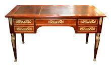 French Empire Mahogany Desk
