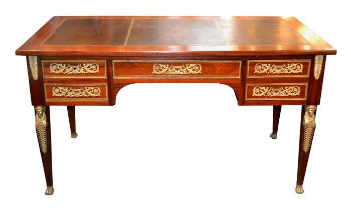 French Empire Mahogany Desk