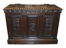 French Oak Carved Trunk