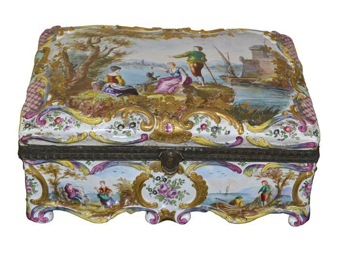 French Porcelain Sevres Box