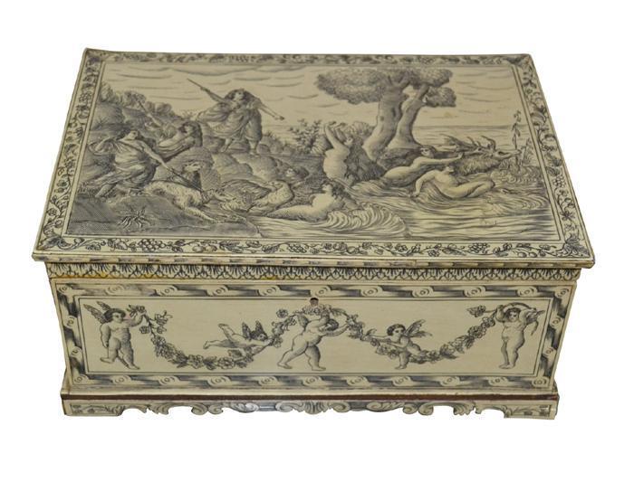 19th Century Italian Ivory Penwork Box