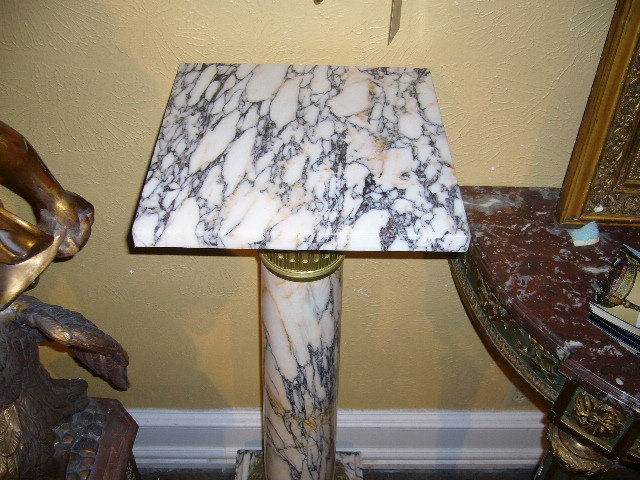 French Marble Pedestal
