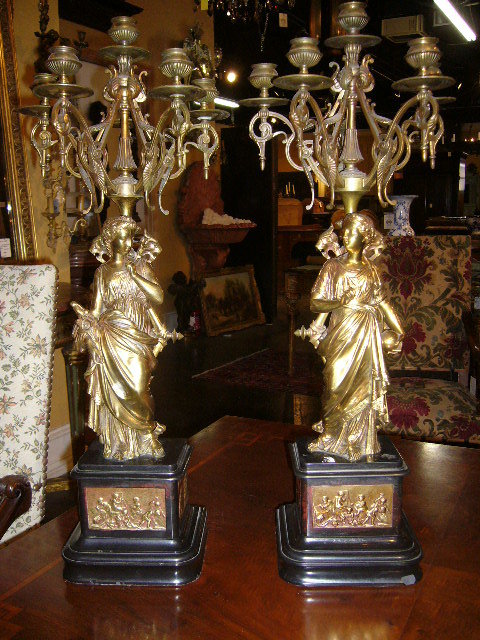 French Bronze Candelabra