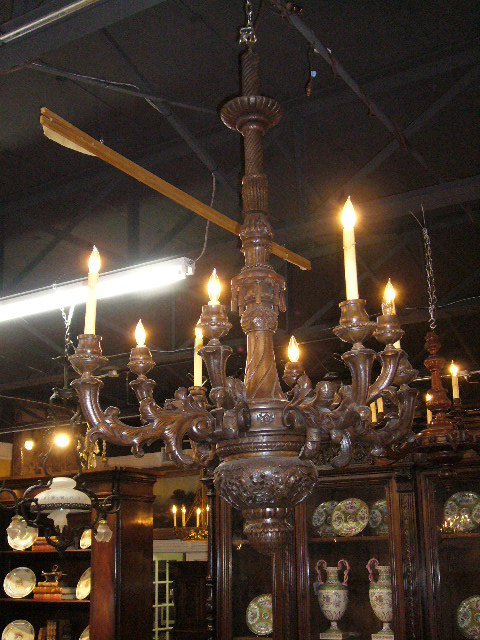 French Carved Chandelier
