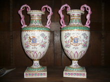 Pair of Samson Vases