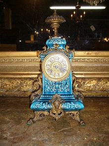 Majolica Mantle Clock