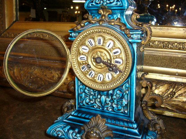 Majolica Mantle Clock