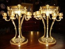 A Superb Pair of French Dore Bronze Candelabras