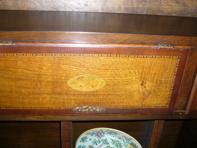 A Rare Petite Queen Ann Welsh Oak Hutch