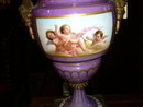 A Beautiful Royal Vienna Lamp with Playful Cherubs Double Sided Scenes
