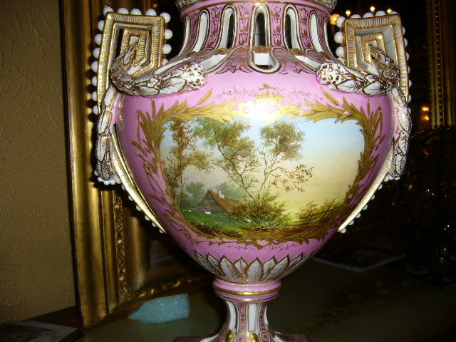 A  c1880 Sevres porcelain Urn is in Fabulous Condition
