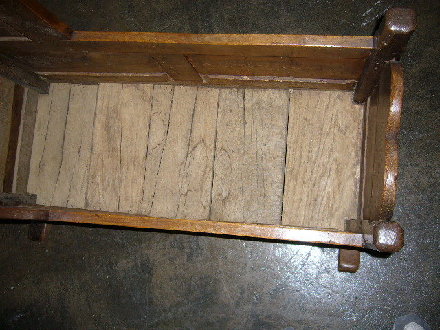 A Very Sweet English Country Oak Cradle