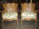 A Superb Pair of French Walnut Caned Parlor Charis
