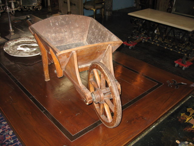 A rare and adorable French wheel barrow