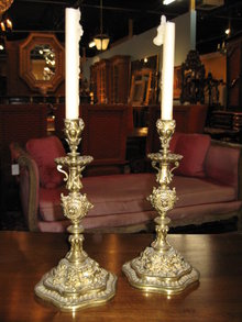 A very nice pair of French candlesticks