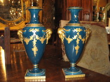 A nice pair of signed French porcelain vases
