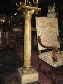 An outstanding  French onyx and bronze pedestal