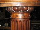 A handsome French carved walnut pedestal