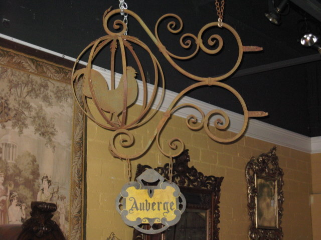 """A special French iron """"Inn sign"""""""