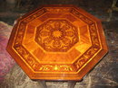 French Inlay Octagonal Table