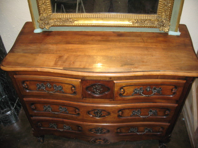 19th Century French Cherrywood Louis XV commode