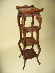 French Fruitwood Plant Stand
