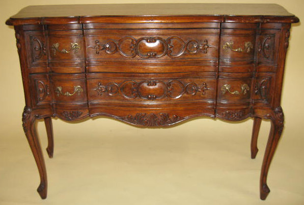 20th Century Petite Belgian Walnut 2-drawer Commode Circa 1930