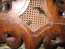 17th 18th century Pair William Mary hall chairs