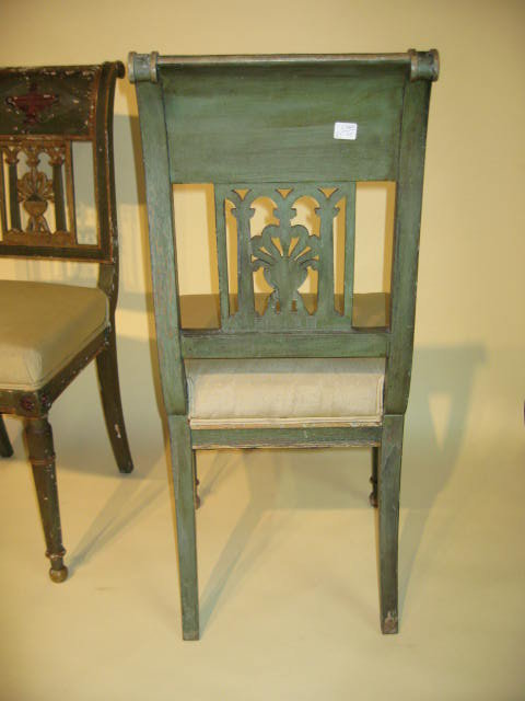 4 Painted Italian Chairs