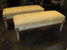 20th Century Pair of Italian Neo-Classical Benches