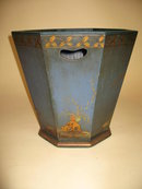 English Chinoiserie Waste Basket