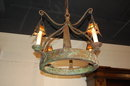 Unusual French Iron Chandelier