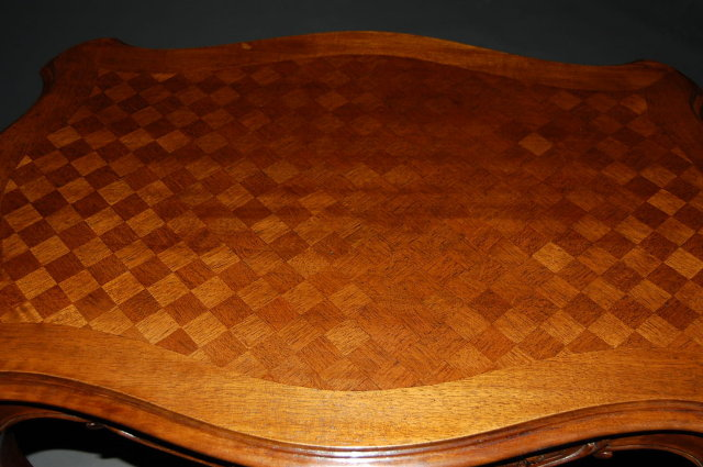 French walnut Louis XV side table
