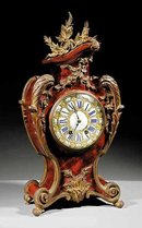 French Tortoise Shell Bracket Clock