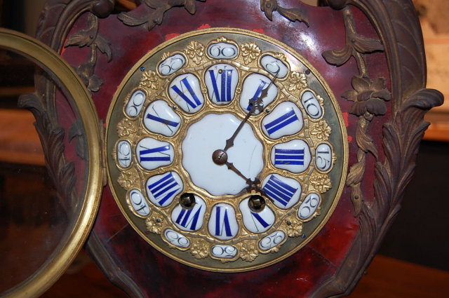 French Tortoise Shell Bracket Clock