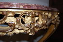 Antique French Gilded Console