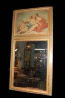 French Antique Trumeau Mirror