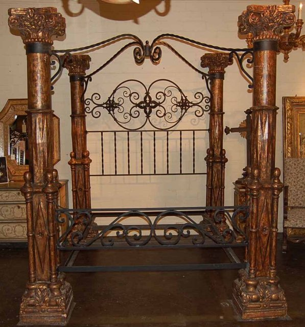 Impressive Stone & Wood Queen Bed