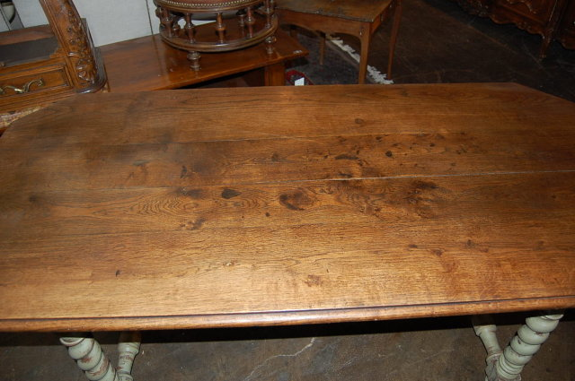 French Oak Painted Dining Table