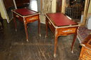 Pair of Italian Kingwood Side Tables