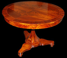 Italian Neo-Classical Mahogany Center Table