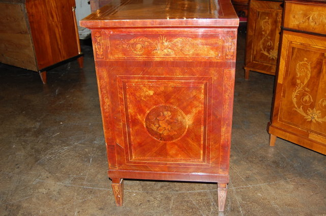 Italian Neo-Classical Marquetry Inlaid Commode