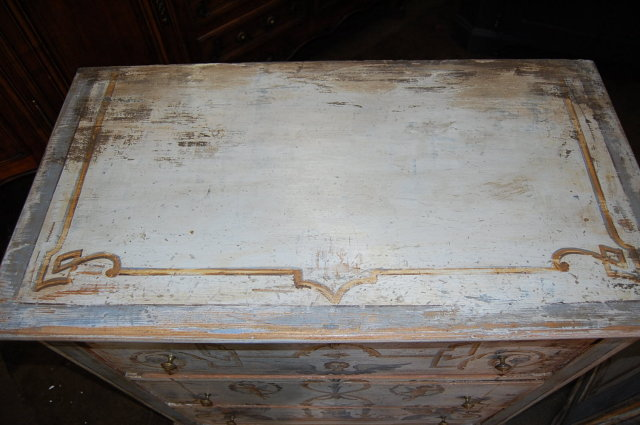 Pair of 19th Century Painted Chests