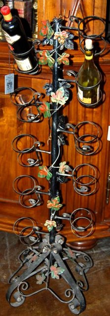 French Iron Wine Rack