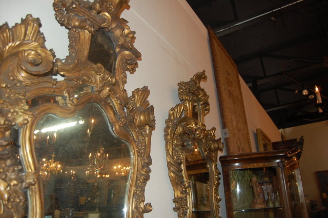 Rare Pair of Italian Gilt Mirrors