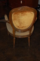 French Carved Needlepoint Fauteuil