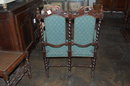 French Henri II Child's Settee