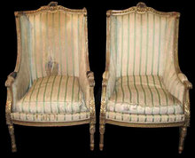 19th Century French Louis XVI Bergeres