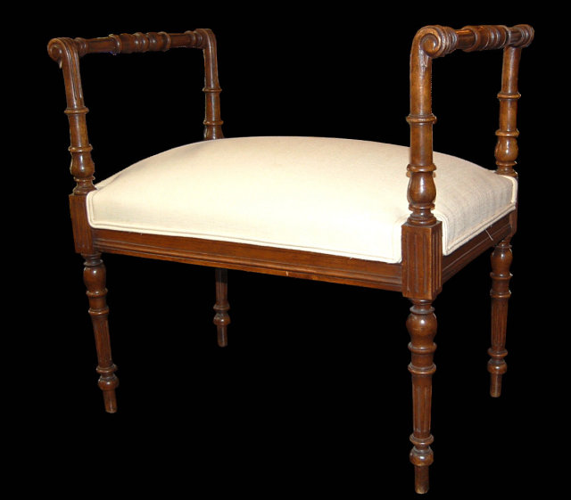 French Louis XVI Window Bench
