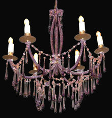 French Teardrop Crystal Chandelier
